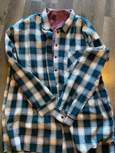Load image into Gallery viewer, Bleached Plaid Cotton Blend Shirt