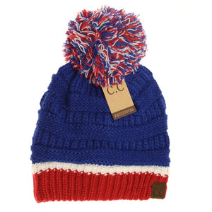 CC Team Colored Pom Beanie