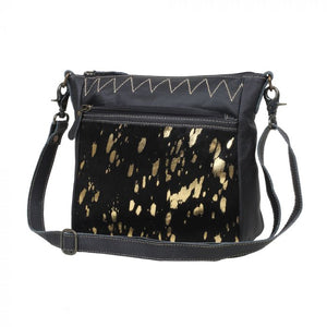 ZIGGY LEATHER AND HAIRON BAG