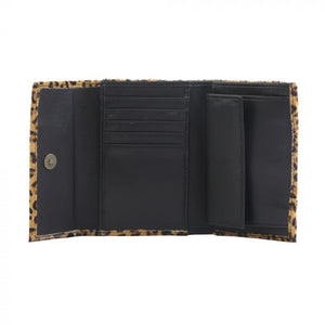 DARK DESIRE LEATHER AND HAIRON WALLET