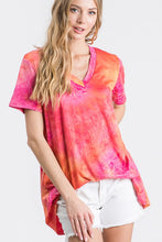 Load image into Gallery viewer, V-NECK TIE DYE TOP