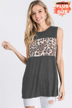 Load image into Gallery viewer, Charcoal Leopard Print Tank