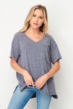Load image into Gallery viewer, Pocket Top V-Neck Navy