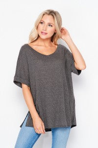 Short Sleeve Ribbed Top