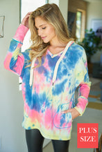 Load image into Gallery viewer, TIE DYE TUNIC HOODIE TOP