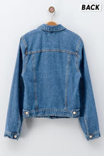 Load image into Gallery viewer, Destroyed Denim Jean Jacket