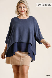 Layered Top with High Low Hem