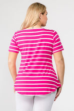 Load image into Gallery viewer, MULTI-STRIPED TUNIC TOP