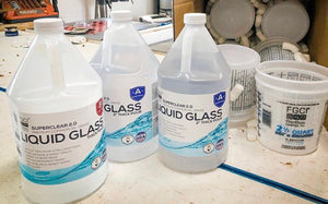 Liquid Glass Deep Pour 2:1 Epoxy – 1.5 Gallon Kit