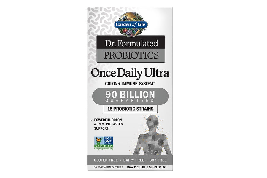 Garden of Life Dr. Formulated Probiotics Once Daily Ultra 90 Billion CFU. 30 VegiCaps