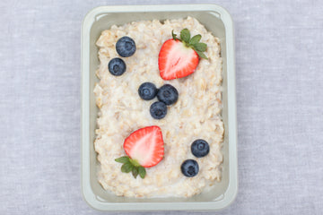 Oatmeal with Blueberries and Strawberries