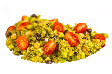 Pesto Black Bean Quinoa Salad