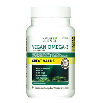 Nature's Science Vegan Omega 3. 84 Softgels