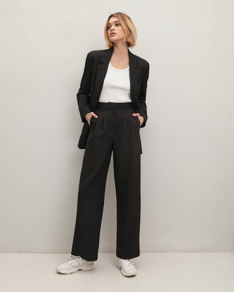 Black classic trousers