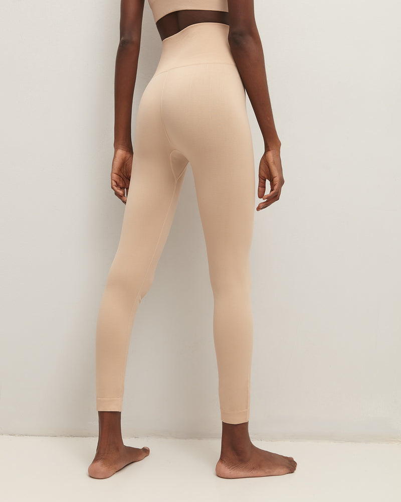 Beige sports leggings