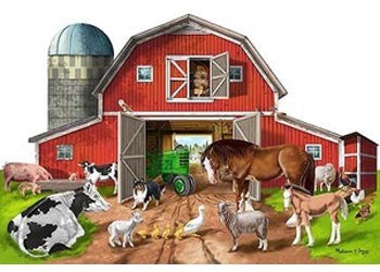 M&D BUSY BARN SHAPED FLOOR PUZZLE