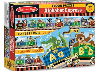 M&D ALPHABET EXPRESS FLOOR PUZZLE