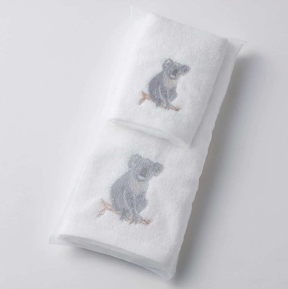 KOALA HAND TOWEL/FACE WASHER ORGANZA BAG