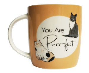 YOU ARE PURRFECT MUG ORANGE