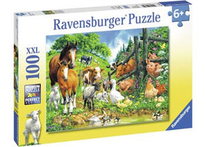 RBURG - ANIMAL GET TOGETHER PUZZLE 100PC