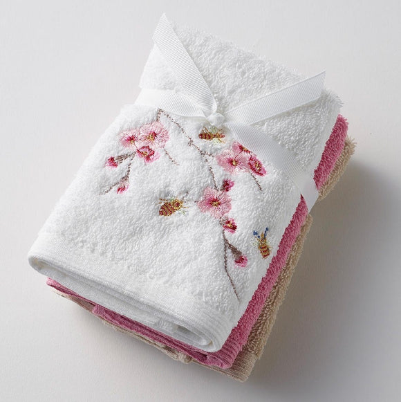 BLOSSOM EMBROIDERED FACE WASHER PACK