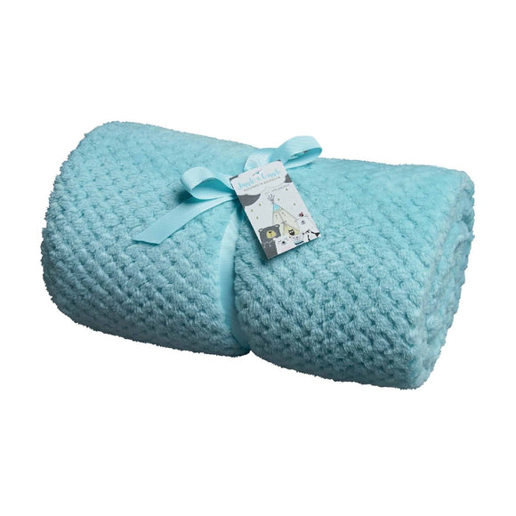 BABY POPCORN THROW - LIGHT AQUA
