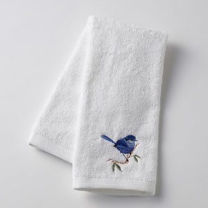 BLUE WREN HAND TOWEL