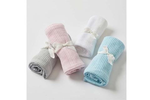 COTTON CELLULAR BABY BLANKET