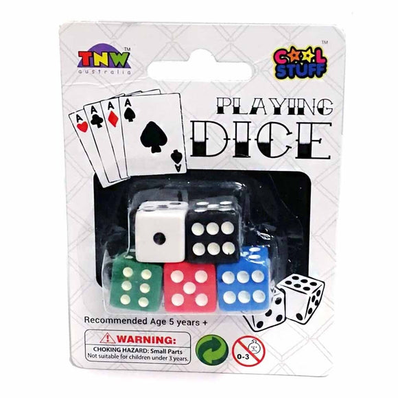 DICE 5PCE COLOURED