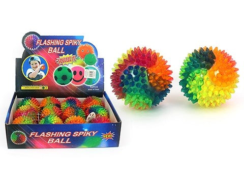 RAINBOW SPIKY FLASHING BALL