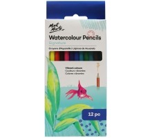 WATERCOLOUR PENCILS 12PCE IN BOX