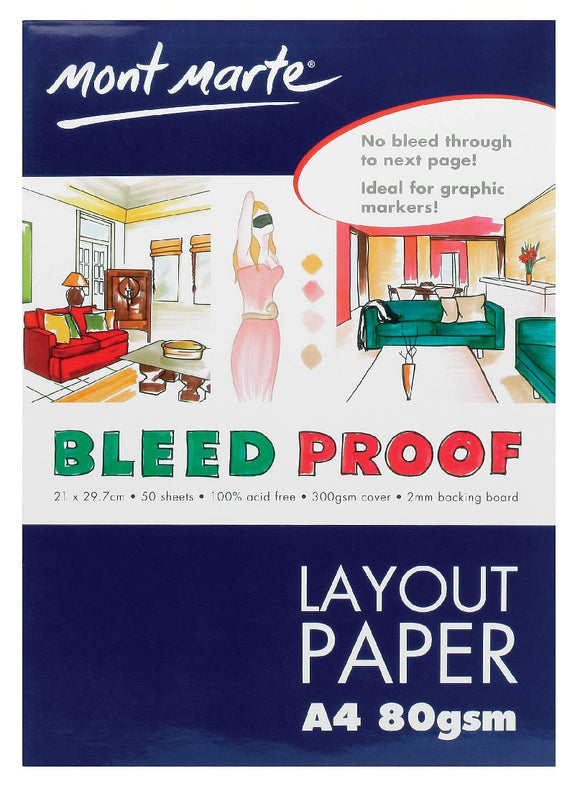 Bleedproof Layout Pad 80gsm 50 Sheet A4