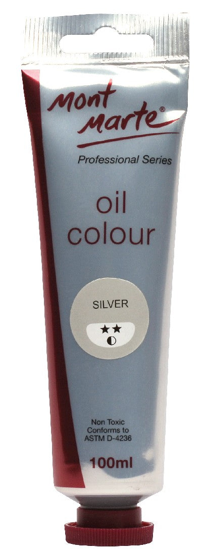 Oil Paint 100mls Silver MPO0033