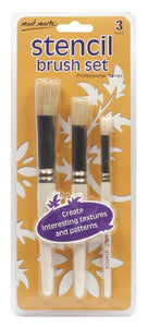 Professional Stencil Brush Set 12/8/4