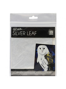 Imitation Silver Leaf 14x14cm 25 sheets MAXX0021