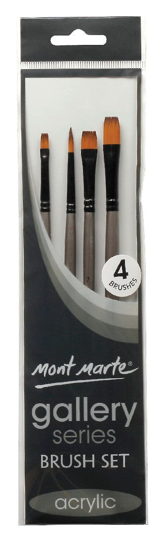 Brush Set Acrylic 4pce Gallery Series