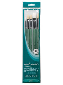 Gallery Series Brush Set Oils 6pc
