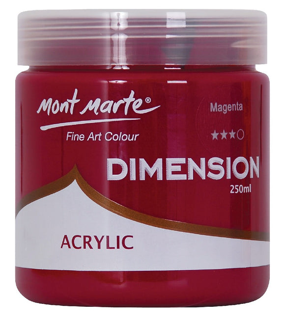 Dimension Acrylic 250mls Magenta