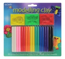 Kids Colour Modelling Clay Set w/Moulds 21pce MMKC0083