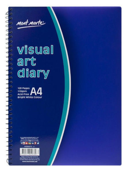 Visual Art Diary PP Coloured Cover A4 MSB0076