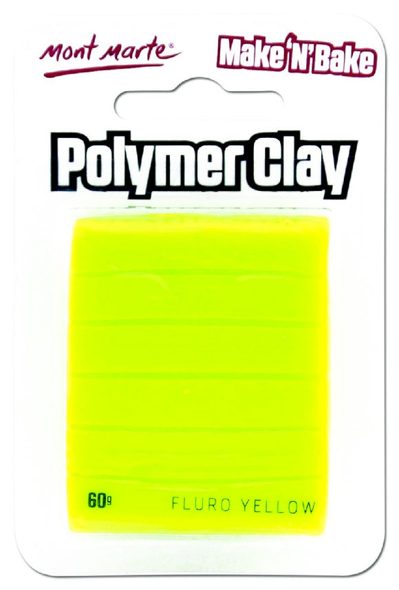 Make n Bake Polymer Clay - Fluro Yellow MMSP6015