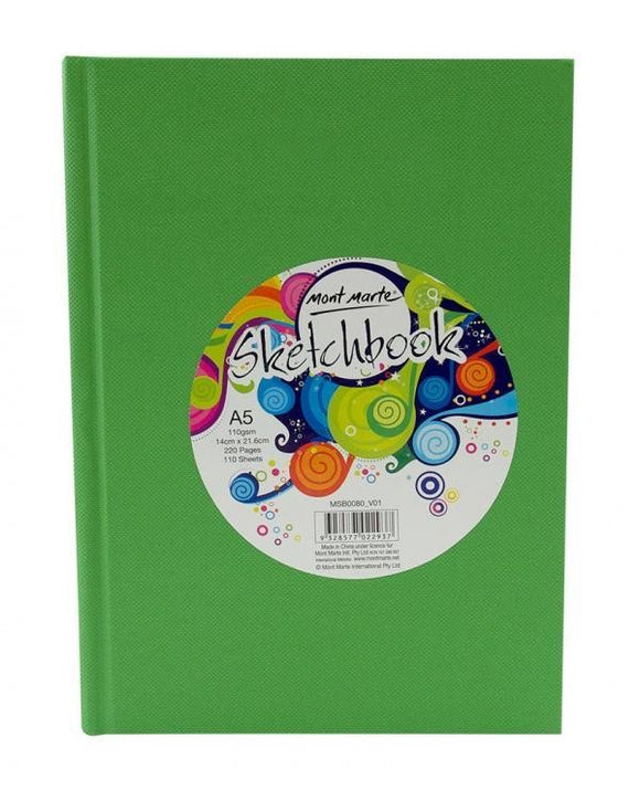Sketch Book A5 Hard Cover 220page 110gsm MSB0080