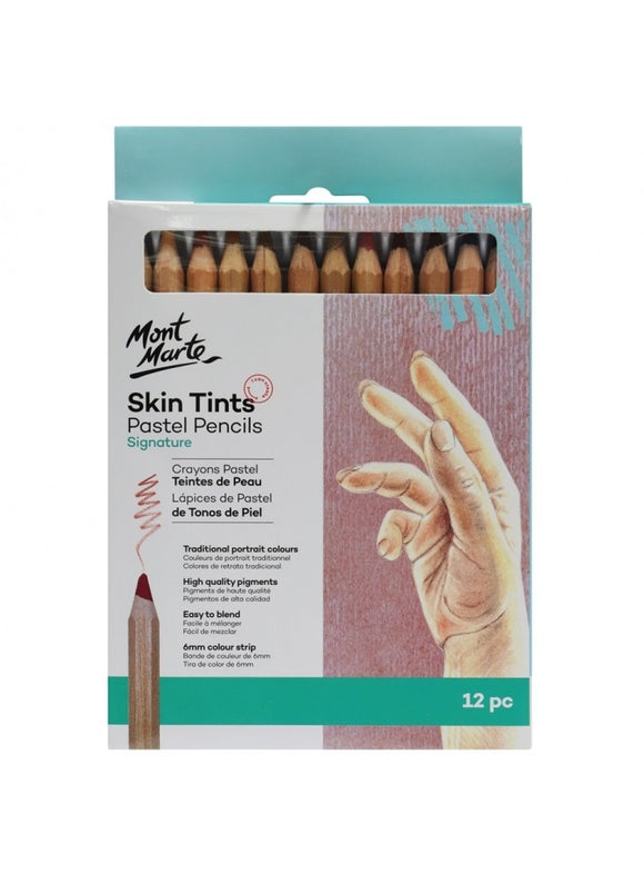 Skin Tints Pastel Pencils 12pce
