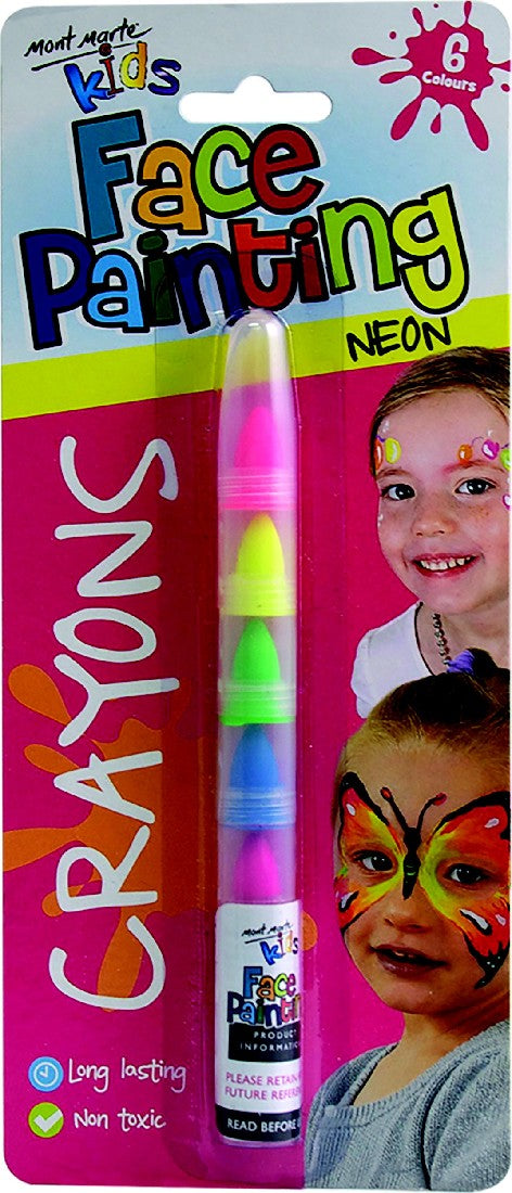 Face Painting Crayons - Neon