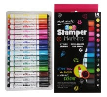 2 in 1 Stamper Markers 14pce