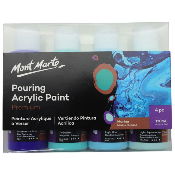 Pouring Acrylic 120ml 4pc - Marina