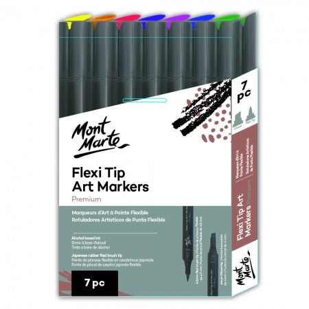 Flexi Tip Alcohol Art Markers 7pc