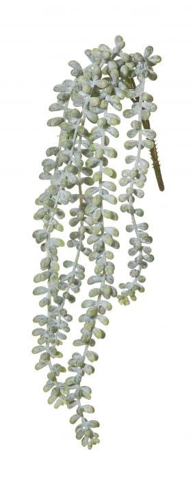 HANGING PEARLS GREEN 42CM