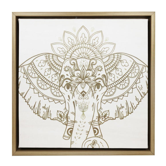 HAVANA ELEPHANT FRAMED CANVAS