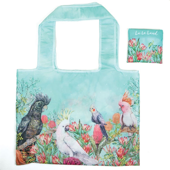 FOLDABLE SHOPPER BAG COCKATOOS OF AUST